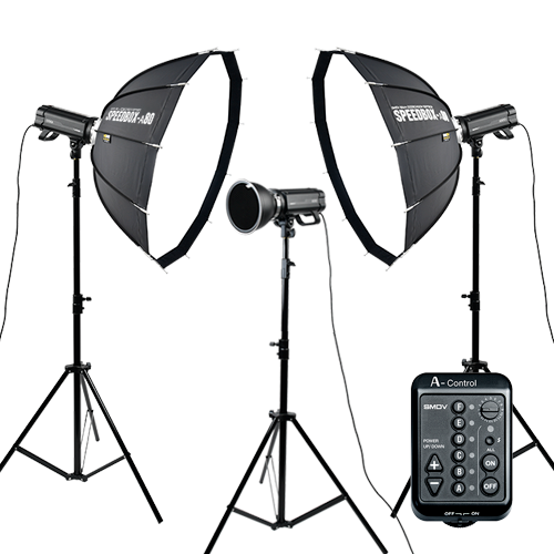 [Studio] A500 A80 Set (Flash3ea) : SPEEDBOX-A80, A-Control, Reflector, Tripod etcSMDV
