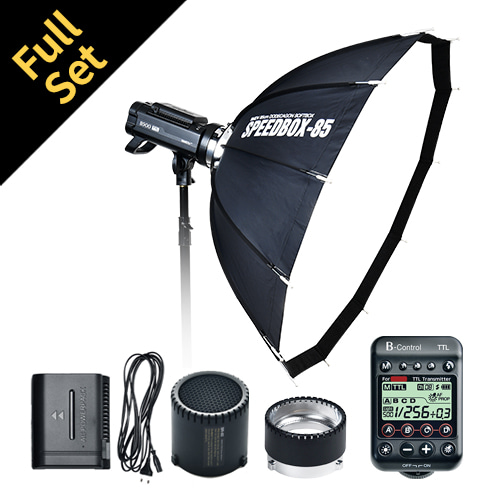 B500 TTL Full Set (flash1ea) : Speedbox-70s,B-Control, AC-Power Pack, SnootHoneycombSMDV
