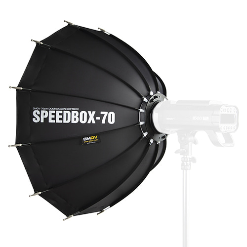 SPEEDBOX-70 / Size : 70 x 68 cm SPEEDLITE SOFTBOX / Bowens TypeNot for High Heat UsageSMDV