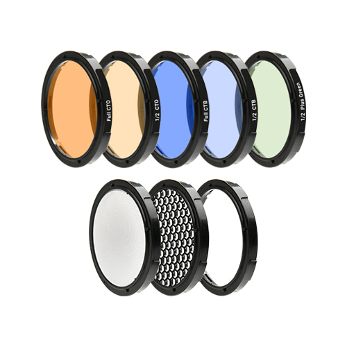 CC Filter KIT [For Speedbox-Flip] Color Correction Filter (5), Diffuser, Honeycomb Grid, Gel FrameSMDV